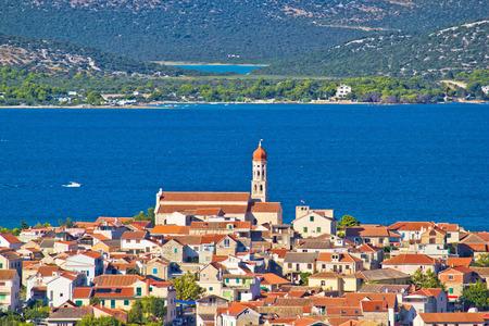 Adriatic town of Betina view, Island of Murter, Croatia photo