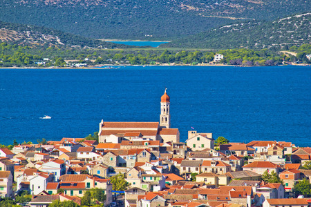 murter: Adriatic town of Betina view, Island of Murter, Croatia Stock Photo