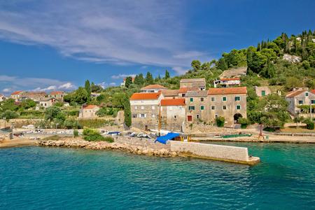 Pictoresque small island of Osljak in Zadar channel, Dalmatia, Croatia