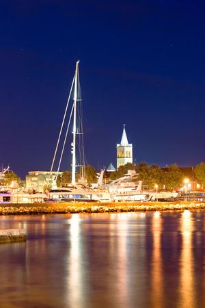 City of Zadar evening harbor view, Dalmatia, Croatia photo