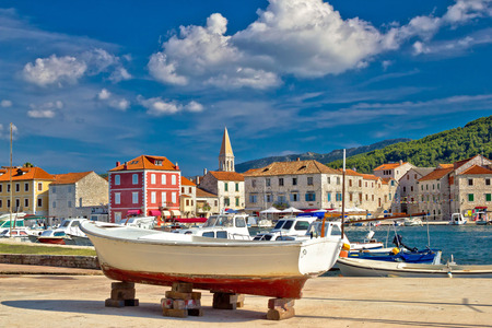 starigrad: Old pictoresque town of Starigrad Hvar Stock Photo