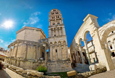 Diocletian palace  site in Split, Dalmatia, Croatia