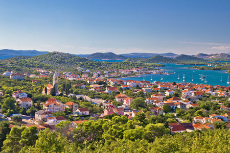 kornati national park: Island Murter and Kornati national park archipelago view, Dalmatia, Croatia