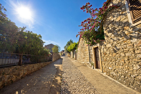 starigrad: Old stone steets of Stari Grad on island of Hvar, famous tourist destination