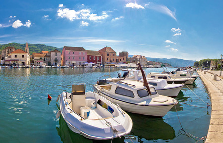 starigrad: Stari Grad waterfront view, island of Hvar, Croatia