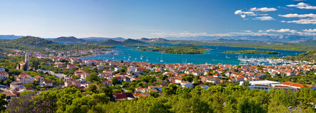 Amazing islands of Croatia archipelago panoramic view, Murter, Dalmatia photo