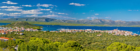 Betina village on the hill by the sea, Island of Murter, Croatia photo