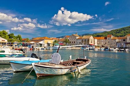 starigrad: Old wooden boats in Stari Grad, Hvar island in Croatia