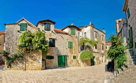 starigrad: Stari Grad on Hvar island street, Dalmatia, Croatia