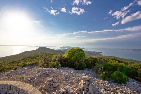 View fron Pasman island peak, Dalmatia, Croatia