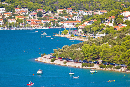 murter: Tisno village on island of Murter bay view, Dalmatia, Croatia