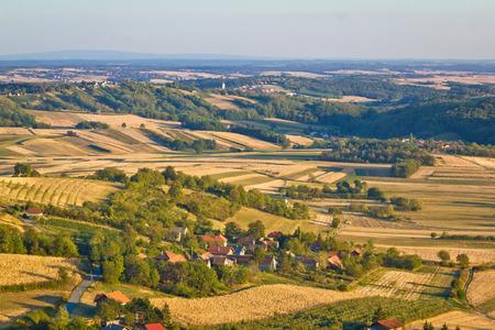 kalnik: Agricultural green landscape od Prigorje region in Croatia