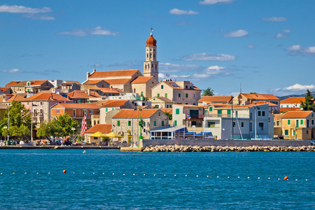murter: Adriatic village of Betina skyline, Island of Murter, Croatia Stock Photo