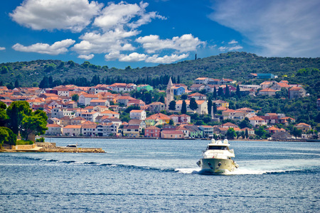 Island of Ugljan yachting destination, Town of Kali in Dalmatia, Croatia Stock Photo - 34683757