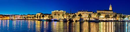 Amazing Split waterfront evening panorama, Dalmatia, Croatia