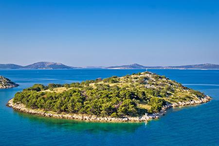 Small island in archipelago of Croatia, Kornati islands national park Standard-Bild