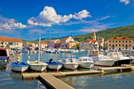 starigrad: Stari Grad on Hvar island waterfront view, Dalmatia, Croatia