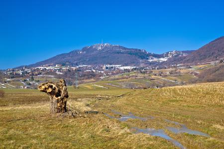 Kalnik mountain nature winter view, Prigorje region of Croatia