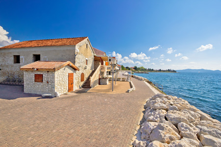Village of Bibinje waterfornt view, Dalmatia, Croatia Standard-Bild
