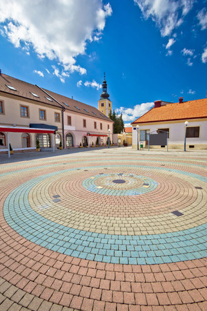 kalnik: Town of Ludbreg square vertical view, Prigorje region of Croatia