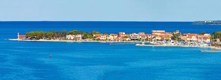 dalmatia: Puntamiika peninsula of Zadar aerial panorama, Dalmatia, Croatia Stock Photo