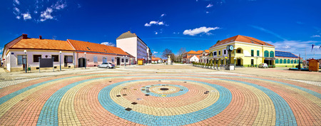kalnik: Town of Ludbreg square panoramic view, Prigorje, Croatia