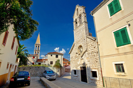 starigrad: Stari grad on Hvar island stone streets in Dalmatia, Croatia Stock Photo
