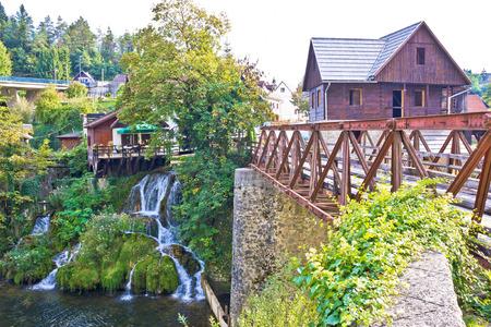 waterfalls waterfall: Waterfalls and architecture of Rastoke river village, Croatia