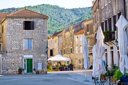 starigrad: Stone streets of Stari Grad on Hvar island, Dalmatia, Croatia