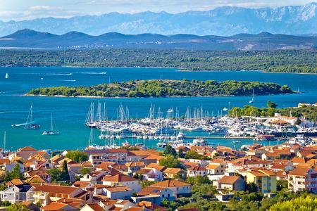 Croatian island archipelago view near Murter island, Dalmatia, Croatia photo