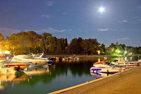 Malinska harbor evening moonlight view Island of Krk Croatia photo