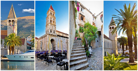 UNESCO town of Trogir architecture collage, Dalmatia, Croatia photo