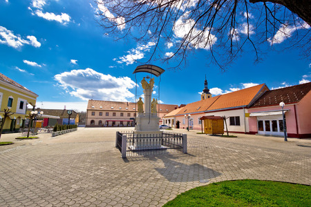 kalnik: Town of Ludbreg central square, Podravina, Croatia Stock Photo