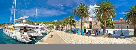 dalmatia: Hvar yachting waterfront panoramic view, Dalmatia, Croatia