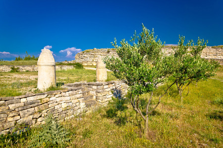 artefacts: Stone artefacts of Asseria ancient town in Croatia