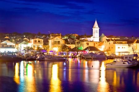 Coastal town of Pakostane evening view, Dalmatia, Croatia
