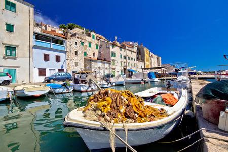 dalmatia: Old fishermen harbor in Sibenik, Dalmatia, Croatia