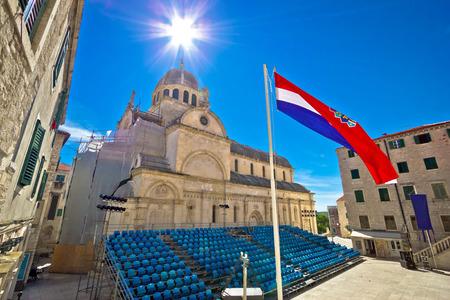 the world heritage: Sibenik cathedral UNESCO world heritage site, Dalmatia, Croatia