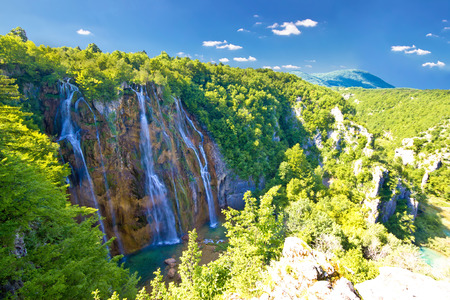 slap: Biggest waterfall in Croatia - Veliki slap in Plitvice lakes national park