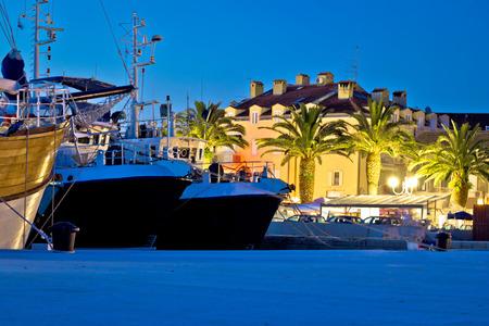 na: Biograd na moru evening harbor view, Dalmatia, Croatia