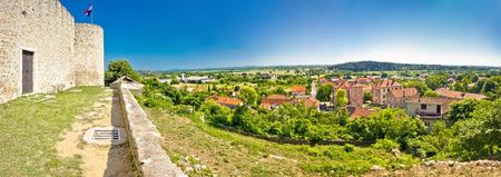 dalmatia: Panoramic view from Benkovac fortress , Dalmatia, Croatia