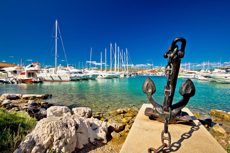 water anchor: Adriatic town of Rogoznica sailing harbor, Dalmatia, Croatia