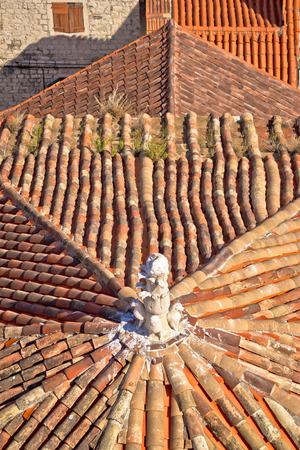 rooftops: Old mediterranean style rooftops of Split aerial view, Dalmatia, Croatia