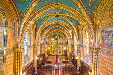 herman: Krizevci cathedral of Holy Trinity interior golden arches, Croatia