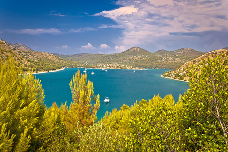 island: Telascica bay yachting and sailing destination on Dugi otok island in Dalmatia, Croatia