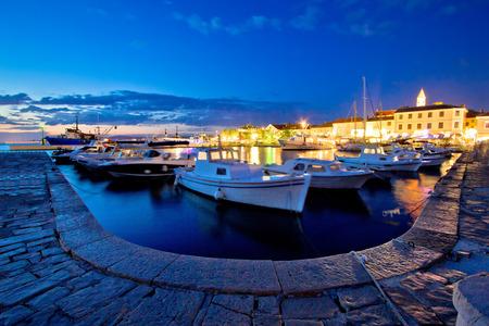 Adriatic town of Biograd Na Moru evening view, Dalmatia, Croatia