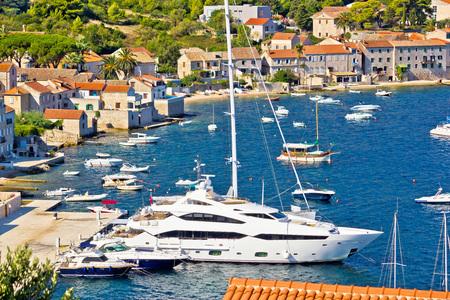 yachting: Island of Vis yachting waterfront, Dalmatia, Croatia Stock Photo