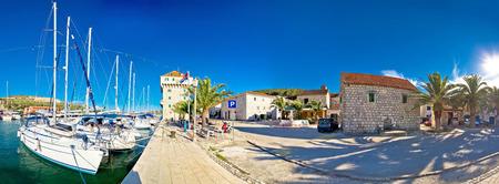 dalmatia: Dalmatian village of Marina waterfront panorama, Dalmatia, Croatia