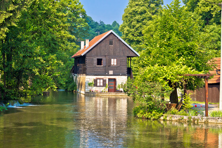 vibrant cottage: Rastoke village on Korana river view, Croatia