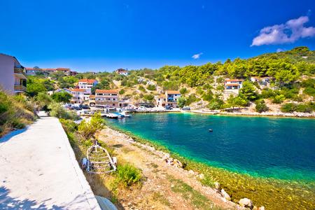 dalmatia: Dugi otok island pictoresque village, Dalmatia, Croatia Stock Photo